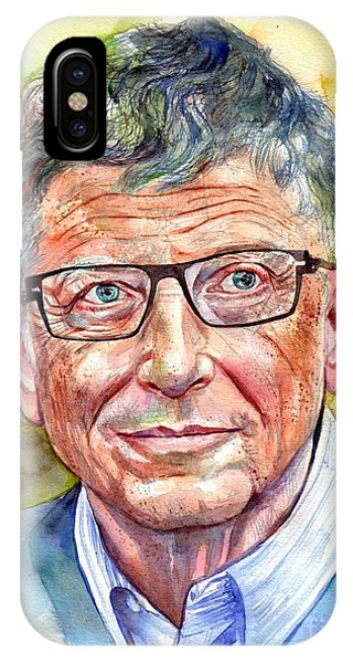 New Mexico iPhone Case - Bill Gates Portrait by Suzann Sines