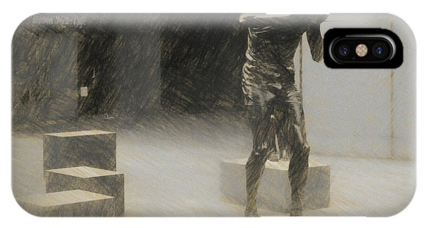 Bill Russell Statue IPhone Case