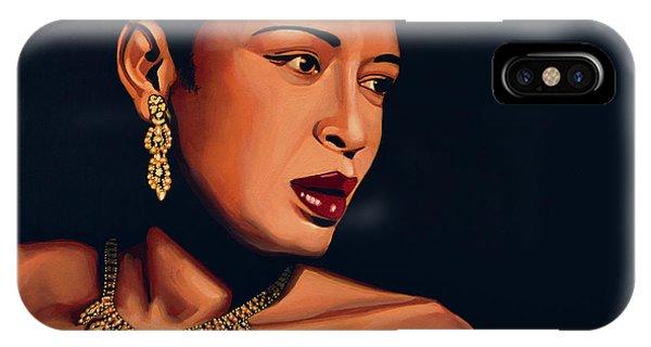 Strange iPhone Case - Billie Holiday by Paul Meijering