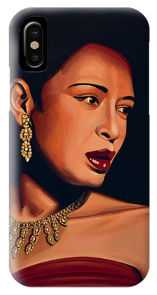 Legends Music iPhone Case - Billie Holiday by Paul Meijering