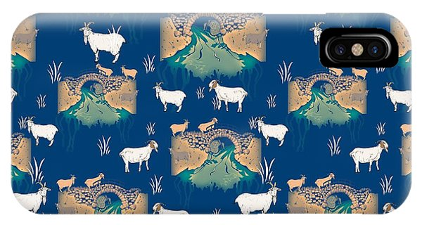 Goat iPhone Case - Billy Goat Gruff by Beth Travers