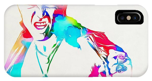 Billy Idol iPhone X Case - Billy Idol Watercolor Paint by Dan Sproul