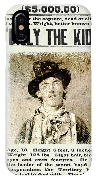 Alive iPhone Case - Billy The Kid Wanted Poster by Jon Neidert