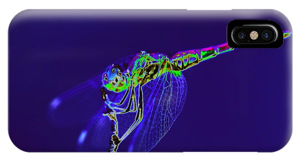 Bioluminescent Dragonfly IPhone Case