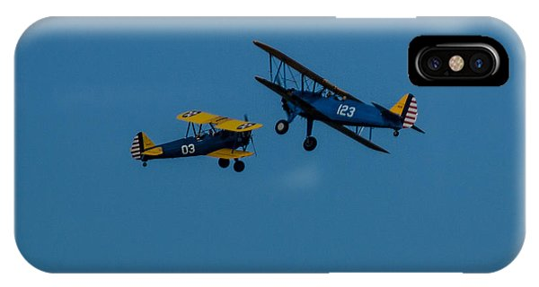 Biplanes Near Collision 5x7 IPhone Case