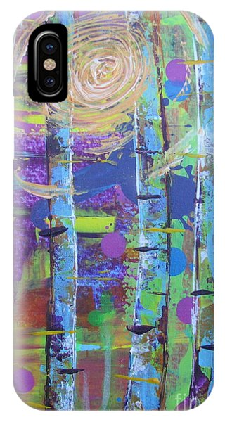 IPhone Case featuring the painting Birch 6 by Jacqueline Athmann