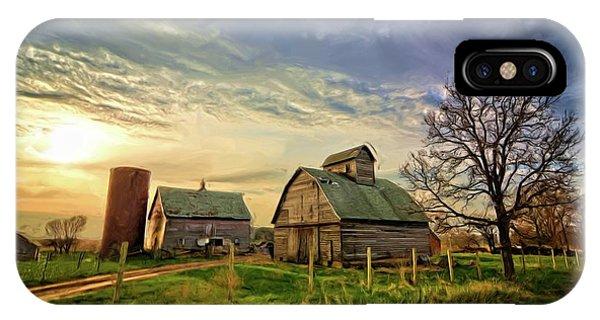 Birch Avenue Farm Painting  IPhone Case