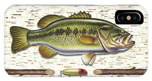 Lure iPhone Case - Birch Bass by JQ Licensing