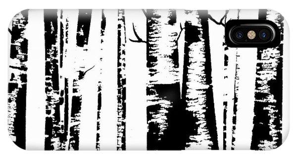 Birch Forest Black IPhone Case