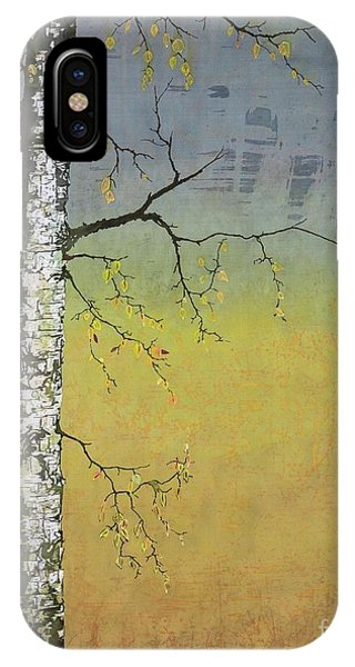 Birch In A Golden Field IPhone Case