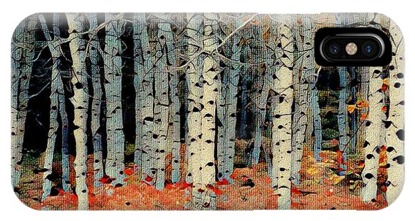 Birch Tree Forest 1 IPhone Case