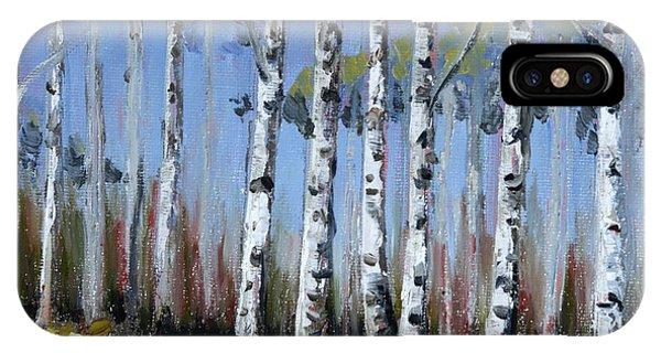 Birch Tree Path IPhone Case