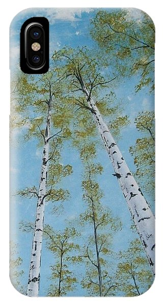Birch Trees And Sky IPhone Case