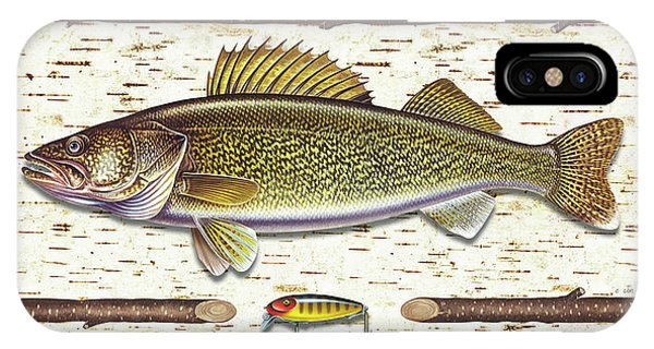 Birch Walleye IPhone Case