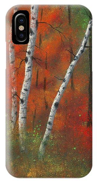 Birches II IPhone Case