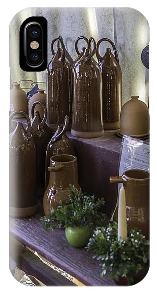 Hand Thrown Pottery iPhone Case - Bird Bottles For Sale by Teresa Mucha