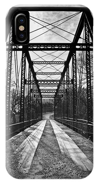 Bird Bridge Black And White IPhone Case
