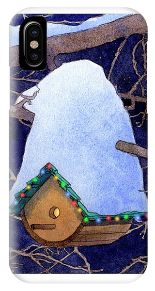 Bird House Christmas IPhone Case