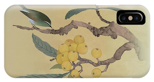 Bird In Loquat Tree IPhone Case
