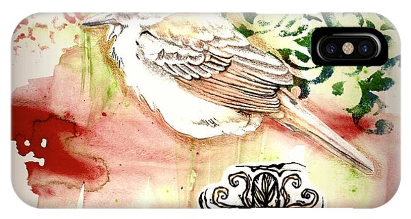 IPhone Case featuring the mixed media Bird Love by Rose Legge