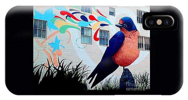 San Francisco Blue Bird Painting Mural In California IPhone Case