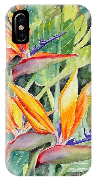Bird Of Paradise Flowers IPhone Case