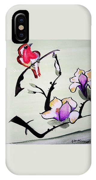 Bird On A Stem IPhone Case