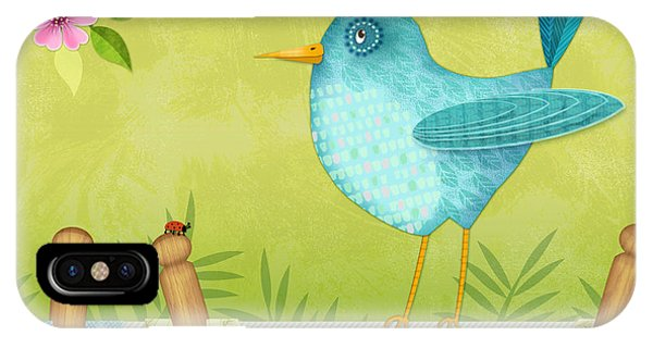 Bird On Clothesline IPhone Case