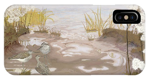 Kingfisher iPhone Case - Bird On The Mud Flats Of The Elbe by Friedrich Lissmann