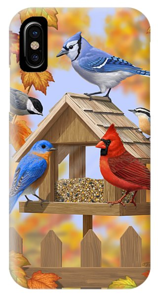 Fall Colors iPhone Case - Bird Painting - Autumn Aquaintances by Crista Forest
