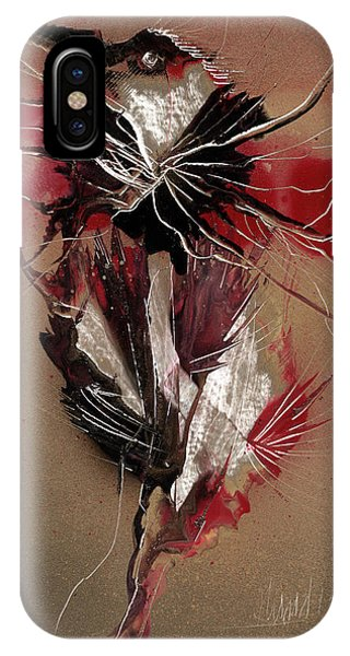IPhone Case featuring the painting Bird Reflect Defect by Jason Girard