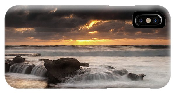Bird Rock Clearing Storm IPhone Case