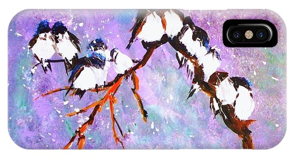 Bird Snowfall Limited Edition Print 1-25 IPhone Case