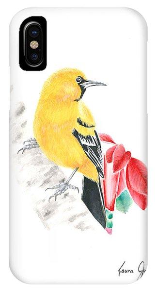 Bird In Yellow IPhone Case