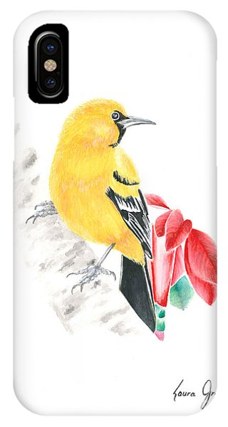 Bird In Yellow IPhone Case