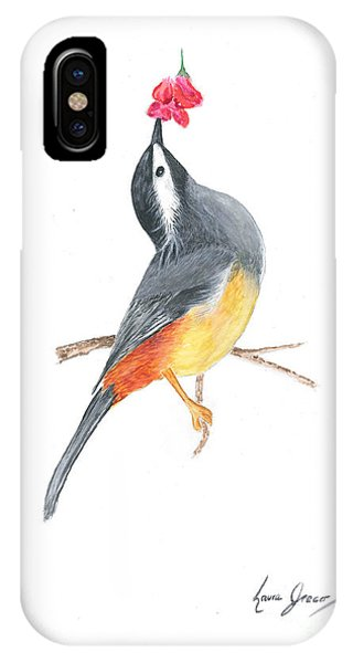 Minimal Bird And Flower IPhone Case