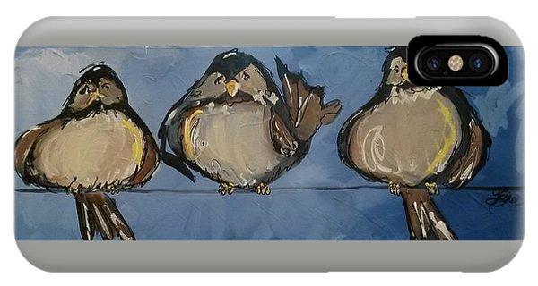 Birdies On A Wire IPhone Case