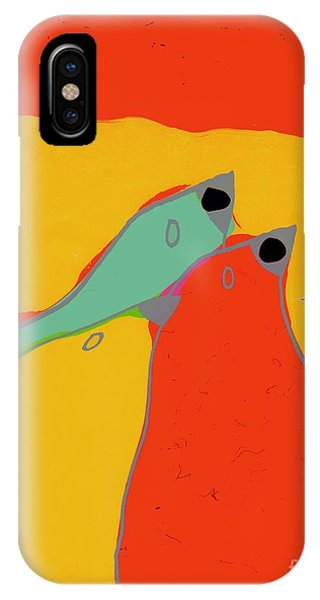 Aqua iPhone Case - Birdies - Q11a by Variance Collections