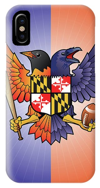 Birdland Baltimore Raven And Oriole Maryland Crest IPhone Case