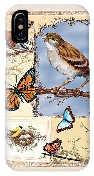 Birds And Butterflies IPhone Case