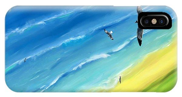 Bird's-eye Above Sea IPhone Case