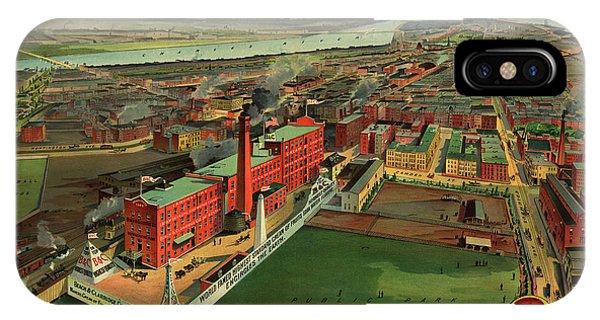 1877 iPhone Case - Bird's Eye View Of Boston by Geo Walker