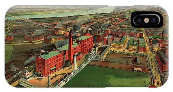 Geo iPhone Case - Bird's Eye View Of Boston by Geo Walker