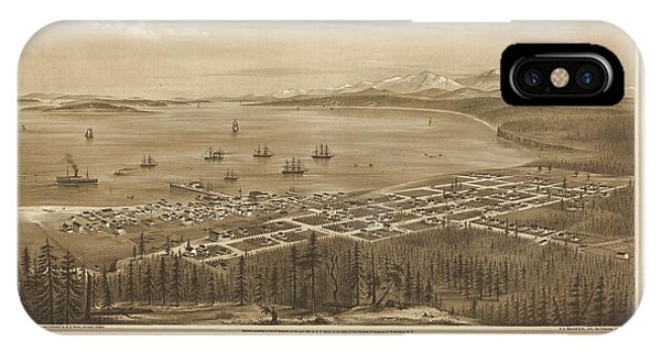 Port Townsend iPhone Case - Bird's Eye View Of Port Townsend by MotionAge Designs