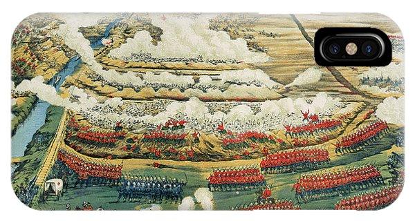 British Empire iPhone Case - Bird's-eye View Of The Battle Of Tel El-kebir by English School