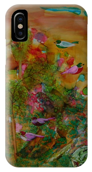 Birds In Exotic Landscape # 57 IPhone Case
