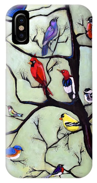 Humming Bird iPhone Case - Birds In The Tree by David Hinds