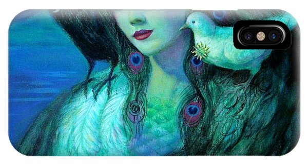 Birds Of Duality Fantasy Art IPhone Case