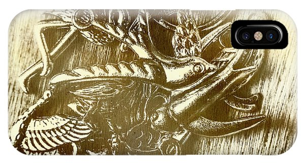 Engraving iPhone Case - Birds Of Metal by Jorgo Photography - Wall Art Gallery