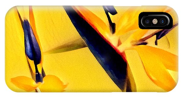 Birds Of Paradise - Two In Gold IPhone Case
